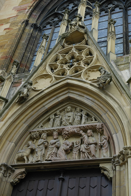 Detail Cathedrale van St. Martin
